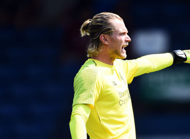 Liverpool goalkeeper Loris Karius.