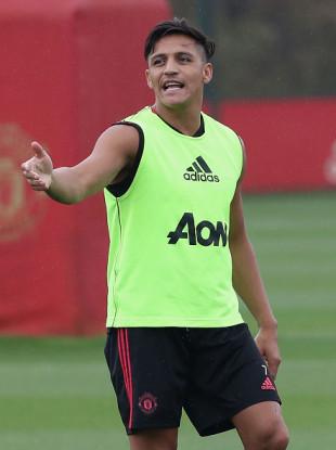 Sanchez during pre-season training last week.
