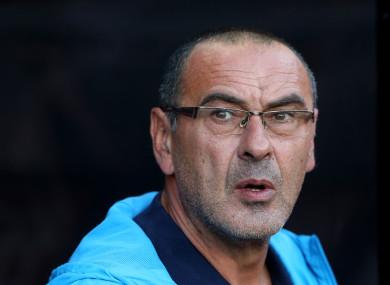 Sarri will replace Antonio Conte at Stamford Bridge.