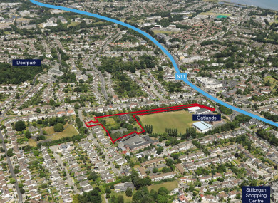 The land in Mount Merrion is in a residential part of south Dublin.
