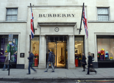 The Burberry shop in New Bond Street, London