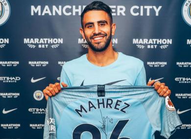 Riyad Mahrez has joined Manchester City.
