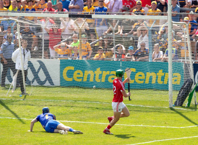 Seamus Harnedy fired home Cork's second goal of the game.