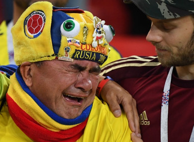 There was heartbreak for Colombia in Moscow last night.