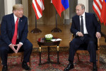 US president Donald Trump and Russia president Vladimir Putin