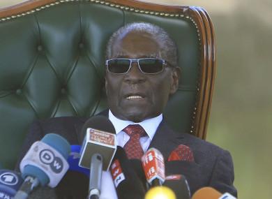 Former Zimbabwean President Robert Mugabe.