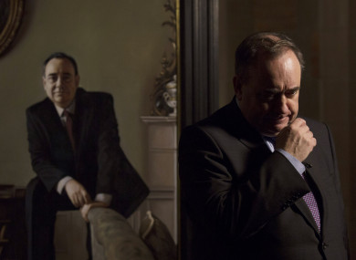Alex Salmond at the unveiling of a portrait of himself in 2016.