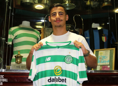 Arzani with the Hoops shirt.