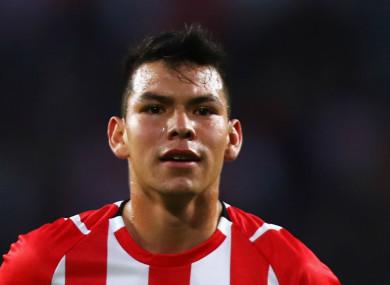 PSV star Hirving Lozano