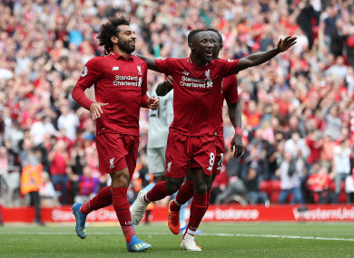 Salah has now scored 29 goals in 29 appearances at Anfield for Liverpool.