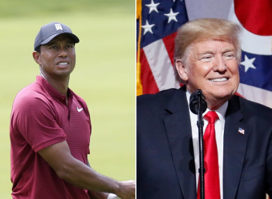 Woods was asked whether his relationship with Trump was professional or personal.