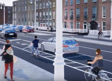 The proposed view from Fitzwilliam Square.