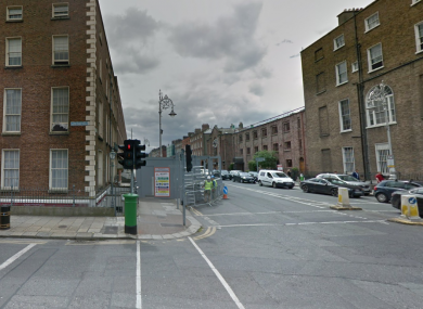 The junction of Mount Street and Fitzwilliam Street Lower.