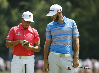 Rickie Fowler and Dustin Johnson are among the eight men straight into Furyk's Ryder Cup team.