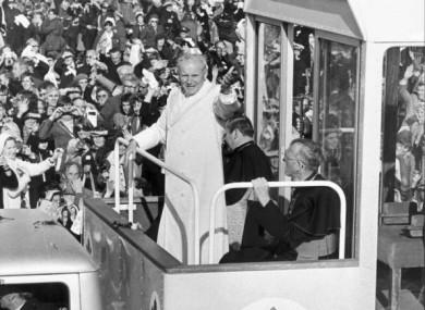 Pope John Paul II in the Phoenix Park in September 1979.