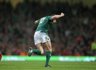 Memories: O'Gara celebrates that late, late drop goal in 2009.
