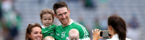 Seamus Hickey celebrates with his wife Ellen and his children Anna, Patrick and Matthew.