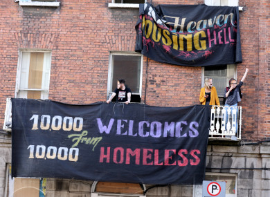 Activists occupying 34 North Frederick Street