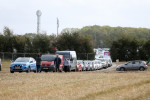 Traffic congestion as people leave the Ploughing Championships, after the event was called off