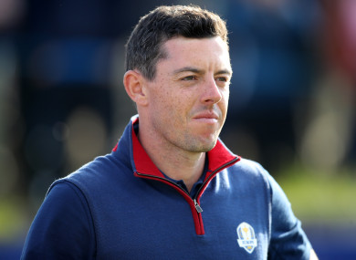 Rory McIlroy in action in France on Friday.