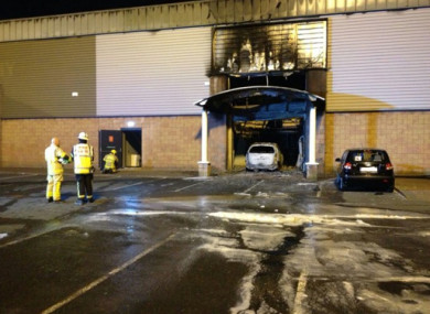 The scene at the gym on the Malahide Road following the fire.