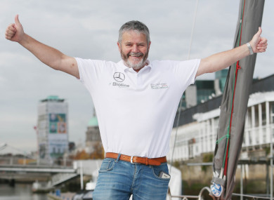 O'Coineen, who is chairperson of Kilkullen Kapital Partners, recently completed a solo circumnavigation of the world - making just one stop - in his yacht.