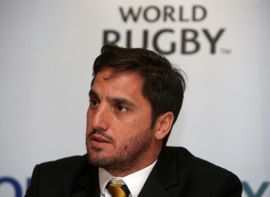 World Rugby vice-chairman Agustin Pichot.