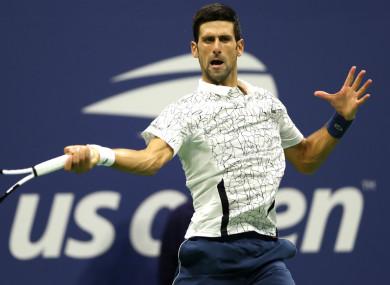 Former world number one Novak Djokovic
