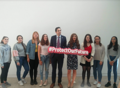 Minister for Health Simon Harris at the launch of the HSE's HPV Vaccine Information Campaign 2018/19