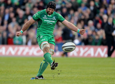 Muldoon kicked a conversion against Leinster back in April.