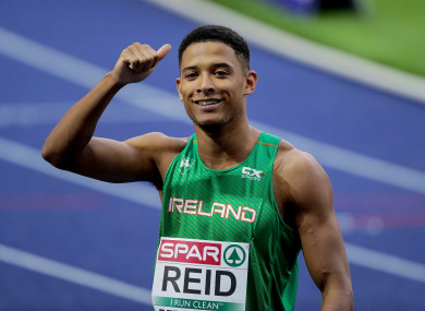 Leon Reid pictured competing at the European Championships last month.
