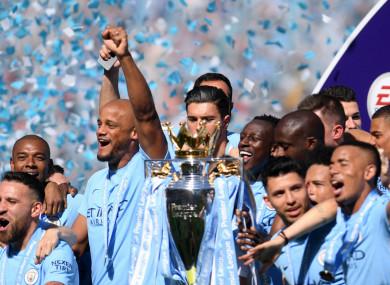 Man City recorded 100 points in the Premier League last season.