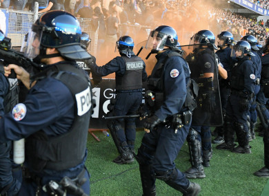 Riot police at Montpellier