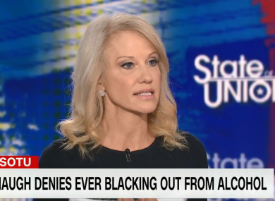 Kellyanne Conway speaking on CNN's State of the Union