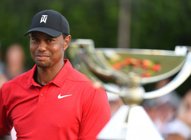 Woods ended his five-year wait for glory last night.