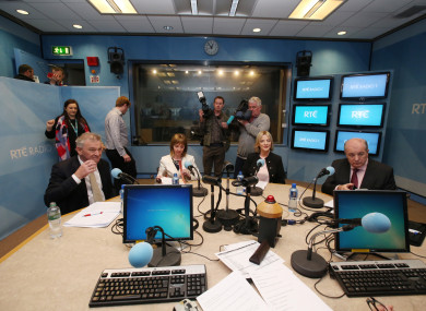 Presidential Candidates Peter Casey, Senator Joan Freeman, Sinn Féin's Liadh Ní Riada and Gavin Duffy together for a debate at RTE Radio 1