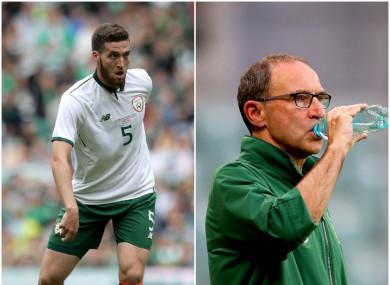 Ireland defender Matt Doherty and manager Martin O'Neill.