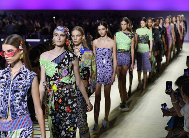 The Versace Fashion show during Milan Fashion Week.