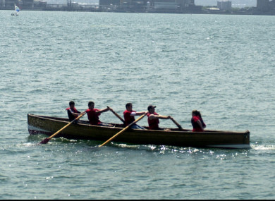 File photo - scouts rowing