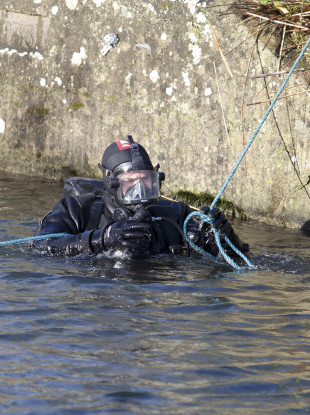 Search teams looked for Kenneth O'Brien's body parts in the Grand Canal outside Sallins in County Kildare in 2015.