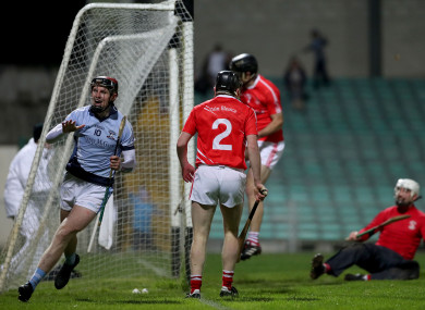 David Dempsey celebrates his goal for Na Piarsaigh.