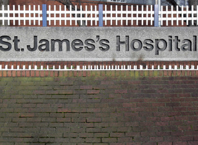 File photo of St James's Hospital in Dublin