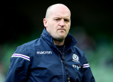 Scotland head coach Gregor Townsend.