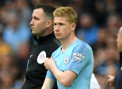 Manchester City star Kevin De Bruyne