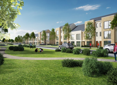 An artist's impression of what the 975 homes at Kilcarbery in Clondalkin will look like.