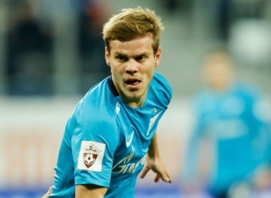 Zenit forward Aleksandr Kokorin