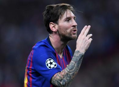 Barcelona captain Lionel Messi.