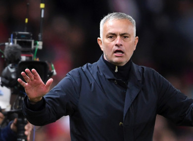 Jose Mourinho boss Manchester United (file pic).