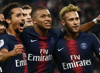 Kylian Mbappe scored four for Paris Saint-Germain against Lyon