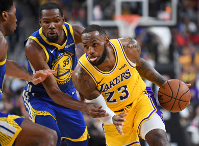 LeBron James and Golden State Warriors forward Kevin Durant.